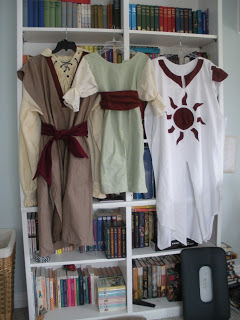 Costumes for the Out of Darkness Rising book trailer