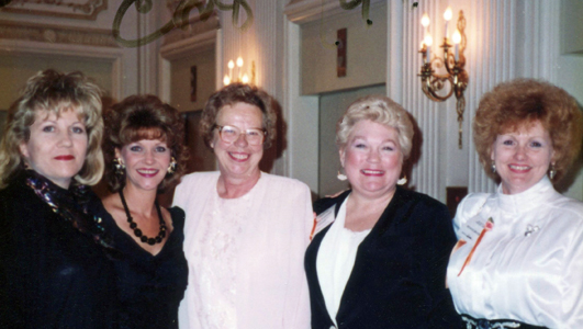 Romance Writers of America Conference - Chicago 1992 (L-R) Gillian Doyle, Mindy Neff, Charlote Lobb (w/a Charlotte Maclay & Charlotte Carter), Jackie Radoumis, Sharon-Brevik