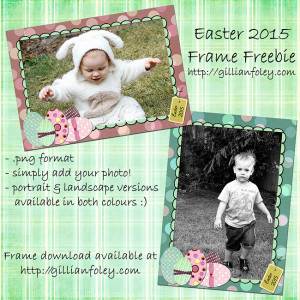 Gillian Foley Photography | Easter 2015 Frame Freebie Preview
