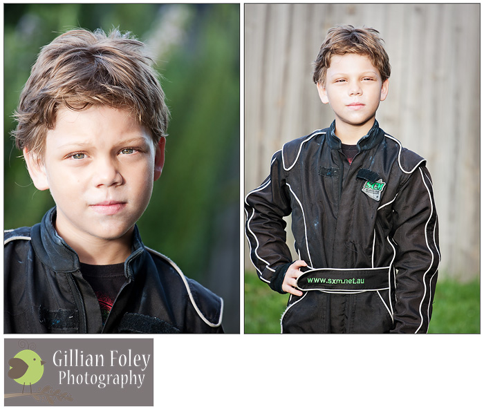 Gillian Foley Photography - Jason in his go-kart gear
