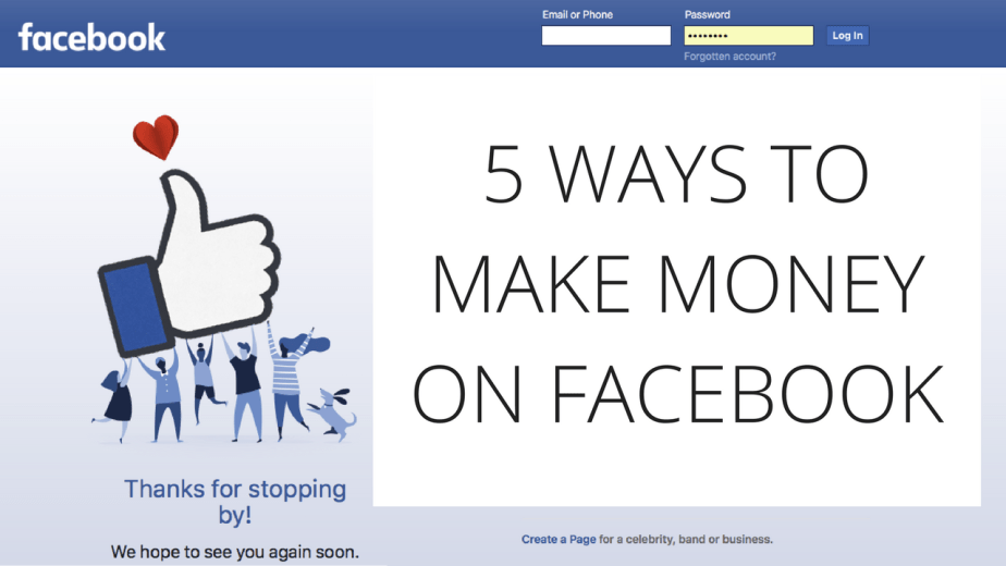 5 ways to make money on Facebook | How to earn money on Facebook
