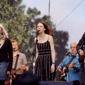 "Emmylou Harris, Gillian Welch, and David Rawlings singing ""When I Paint My Masterpiece"". Hardly Strictly Bluegrass Festival in Golden Gate Park, October 2006."