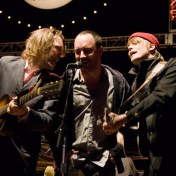 """Keep On Rockin in the Free World"" David Rawlings, Dave Matthews, and Chris Walla at the Bridge Concert 2006."