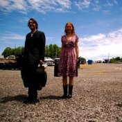David Rawlings & Gillian Welch at Ralph Stanley's Hills of Home Festival 2009.