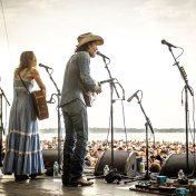 Gillian Welch & David Rawlings perform Mr. Tambourine Man. Newport Folk Festival 50th anniversary of Bob Dylan's electrification.
