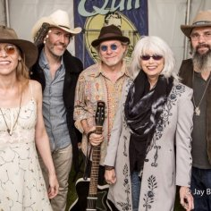 Gillian Welch, David Rawlings, Buddy Miller, Emmylou Harris, & Steve Earle. Backstage at Hardly Strictly Bluegrass. Golden Gate Park Sunday October 4, 2015