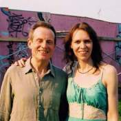 John Paul Jones and Gillian Welch after playing together at Bonnaroo 2007