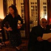 Gillian and Solomon at the Nashville session. April 2006.