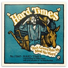 """Hard Times"" - A Letterpressed Print handmade by Peter Nevins"