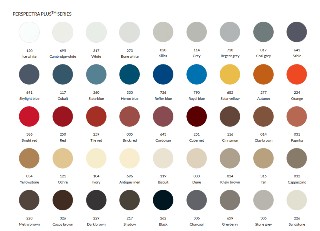 Duchesne Metal Roofing Colour Chart