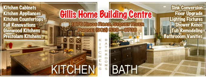 Gillis Home Building Centre - Kitchen and Bathroom renovations, Cape Breton