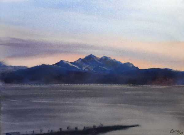 Watercolour painting called a Scottish Island
