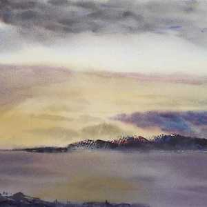 Original watercolour seascape