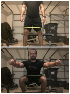 RNT squat with band around the knees