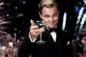 leonardo decaprio with champagne