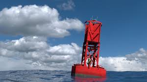 red buoy in the ocean