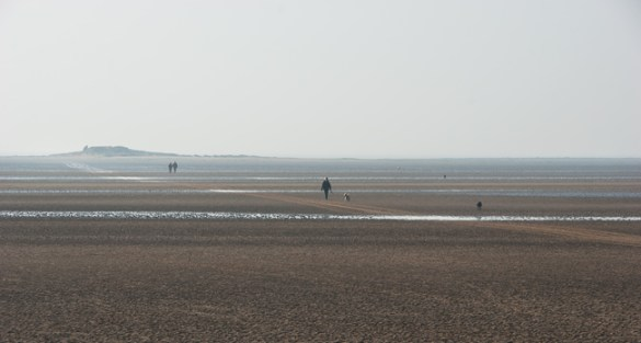 Walking to Hilbre, West Kirby, Wirral