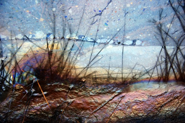 'Landscape' created from oilspill in ditch