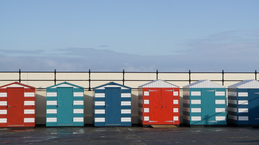 Beach huts, North Berwick