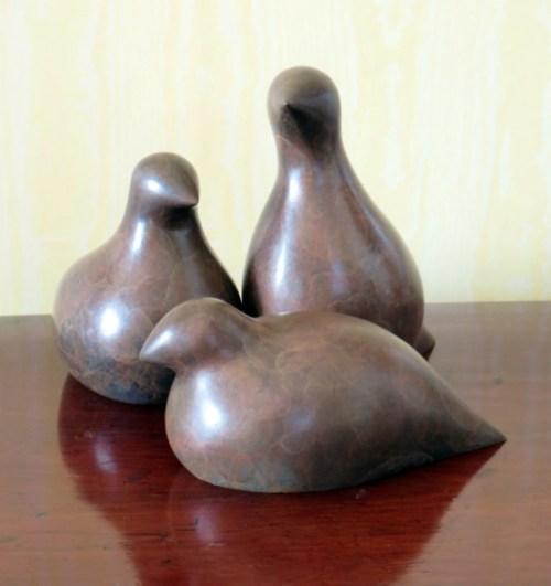 wildlife sculpture, shooting sculpture, countryside birds, bronze sculpture,