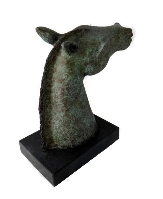 equine sculpture, bronze horse head statues, modern bronze sculpture for sale, bronze horse head, horse head bust, han the water horse, equine statuette, bronze sculpture, bronze horse bust, equine bust, horses head