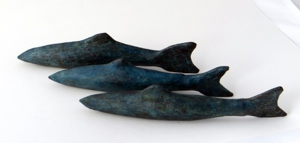 bronze sculpture, fish gifts home decor, sculpture, Gilly Thomas Sculpture, fisherman's gift, fishing decor,presents for fish lovers,