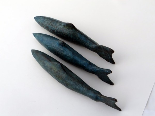 bronze sculpture, contemporary bronze sculpture, fishing gift, three salmon swimming, Gilly Thomas Sculpture, fish gifts home decor, fisherman's gift, solid bronze,