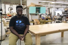 Niyi Owolabi '17 built this table as a gift for his parents.