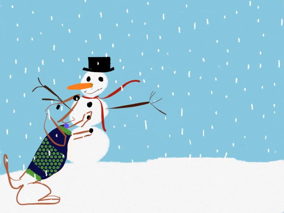 I love making snowmen
