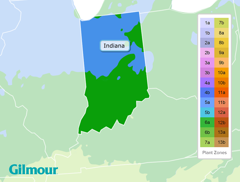 Indiana Planting Zones Growing Zone Map Gilmour