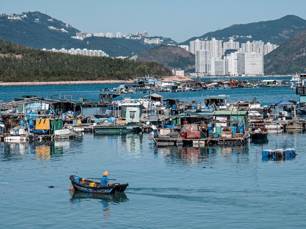 Cabanes flottantes de Sok Kwu Wan sur l'île de Lamma