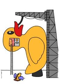 small yellow duck on https://gilscow.wordpress.com/2014/08/29/petit-canard-jaune-small-yellow-duck/