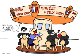 TWO ROUNDS MERRY-GO-ROUND – I also want the pompom ! https://gilscow.wordpress.com/2017/03/18/manege-a-deux-tours-two-rounds-merry-go-round/