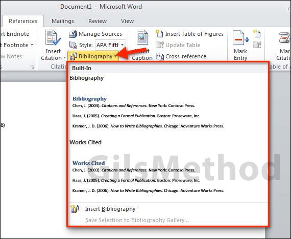 what is apa format in word