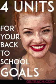 4 Units to Achieve Back-To-School Goals