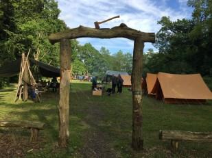 Her har vi slået lejr... Foto: Jens Frederik Frederiksen