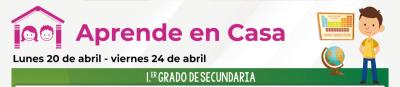 Calendario de actividades Aprende en Casa del 20 al 24 de abril