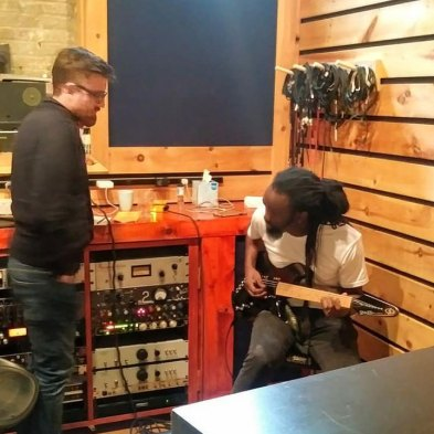 Amadou Gaye playing a Gimenez Guitars Sinner