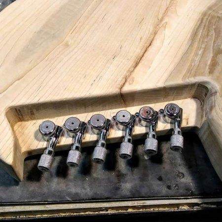 Hipshot locking tuners on Gimenez Guitars - bottom