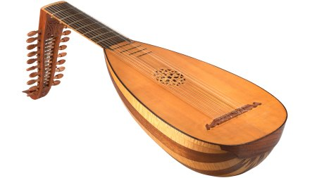 Old fashioned lute guitar