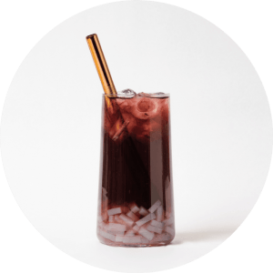 Blueberry Fruit Bubble Tea with Coconut Jelly