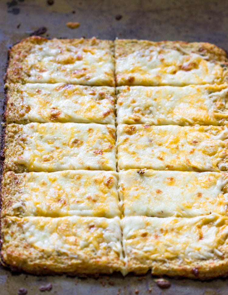Easy Low-Carb Cauliflower Crust Bread Sticks