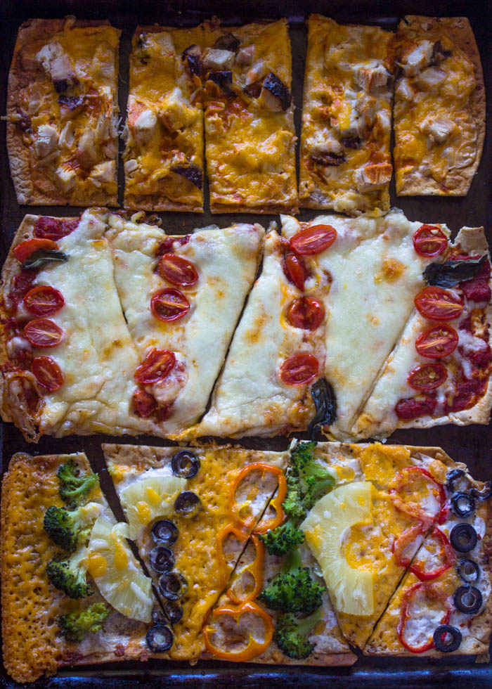 Healthy Pizza in 20 Minutes or Less + Flatout Flatbread Giveaway!
