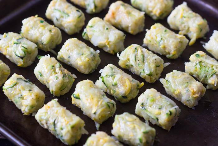 Baked Zucchini Potato Tots