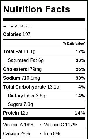 Rainbow Cauliflower Crust Pizza Nutrition Facts