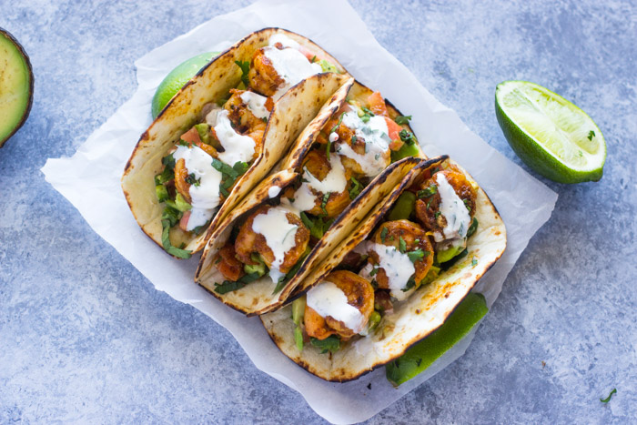 Spicy Shrimp Tacos with Avocado Salsa & Sourcream Cilantro Sauce (20 of 26)