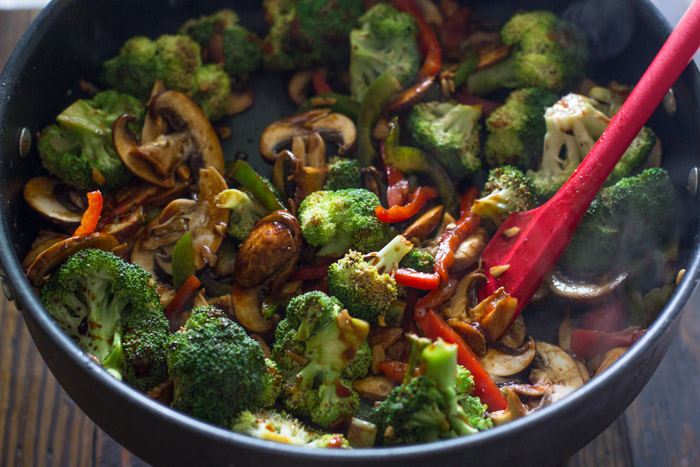 20 Minute Easy Chicken Broccoli & Mushroom Stir-Fry