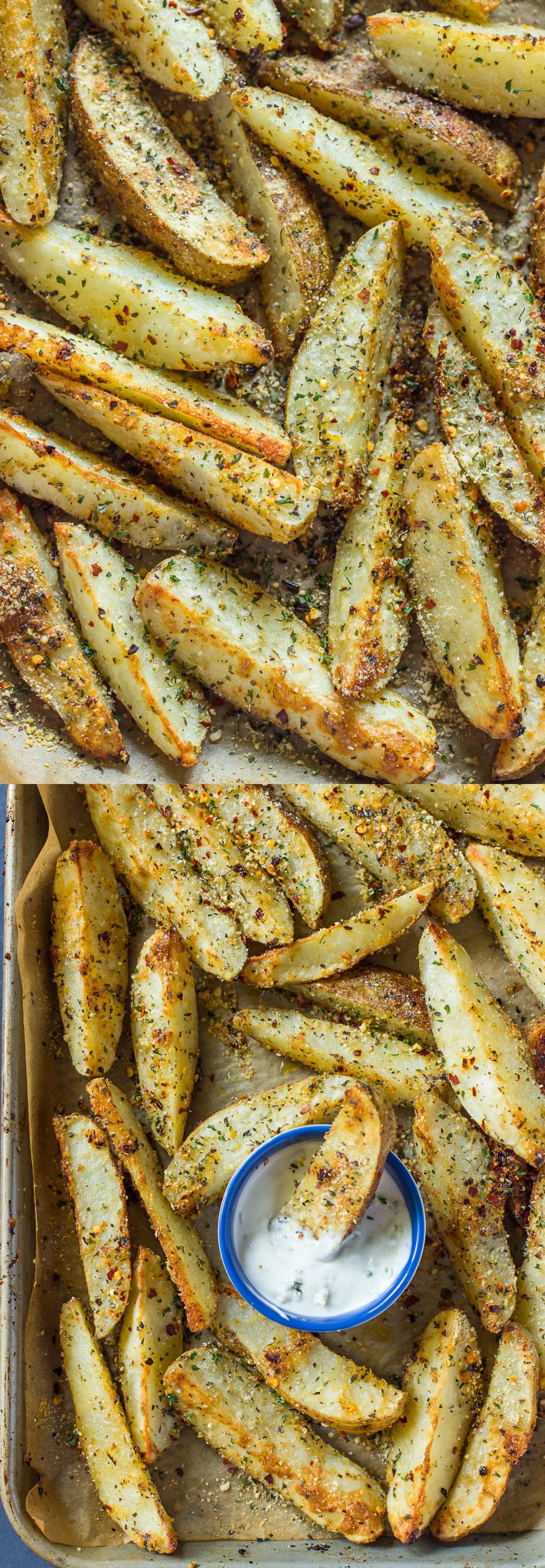 Crispy Baked Garlic Parmesan Potato Wedges