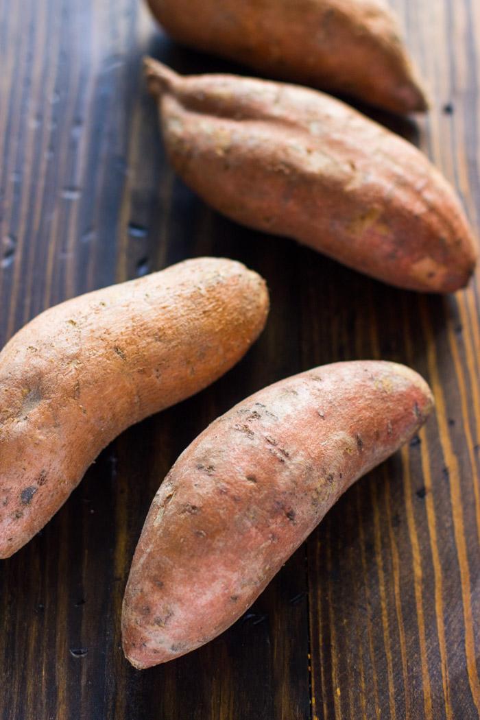 Crispy Baked Sweet Potato Wedges with Avocado Cilantro Dip