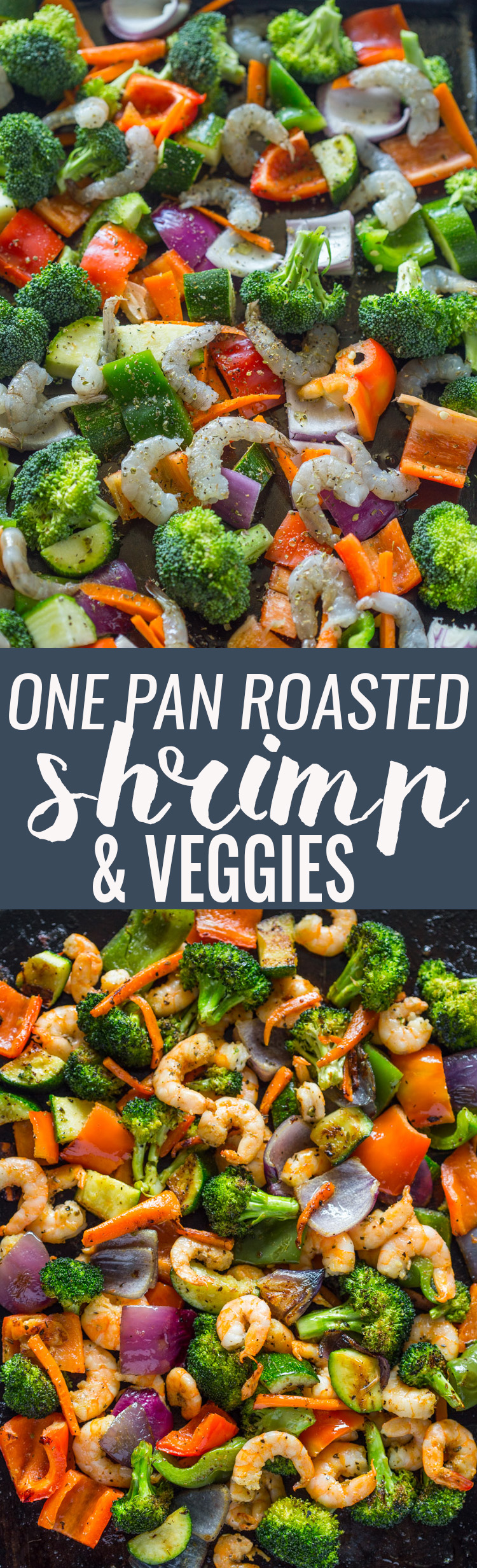Easy One Pan Roasted Shrimp and Veggies